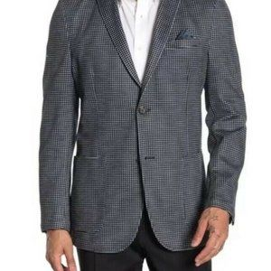 New Vince Camuto Charcoal Gingham Check Blazer